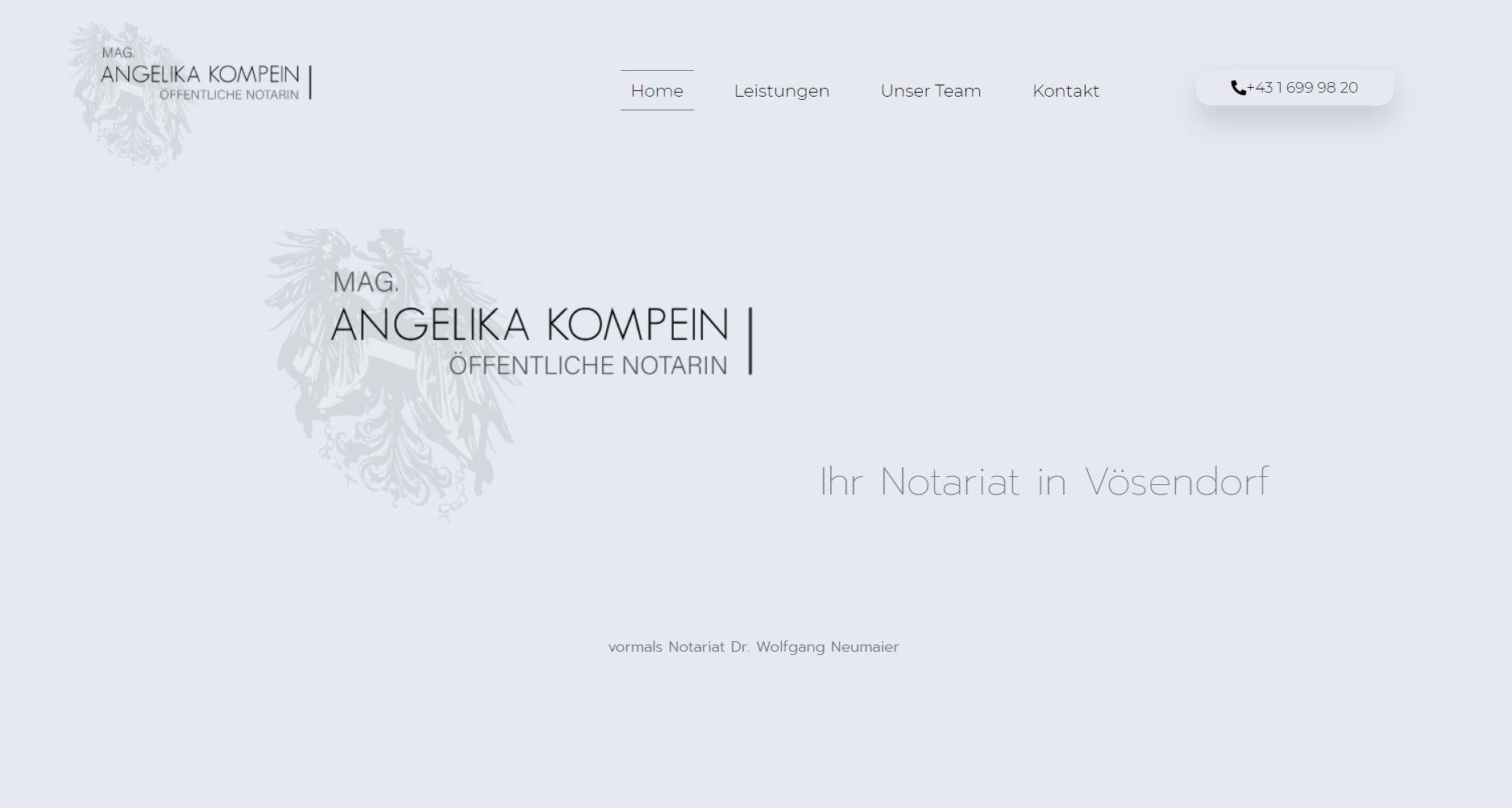 Notariatskanzlei Magister Angelika Kompein in Vösendorf bei Wien